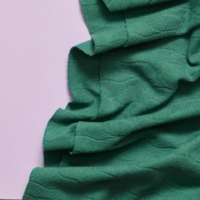 Organic Leaf Jacquard - Chalky Green