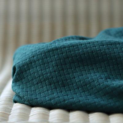 REMNANT 50x180 // Organic Wicker Knit - Green Pine