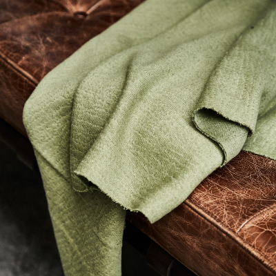Organic Woolen Mold Sweat - Olive Green
