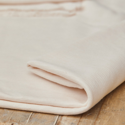Organic Woolen Ottoman - Creamy White