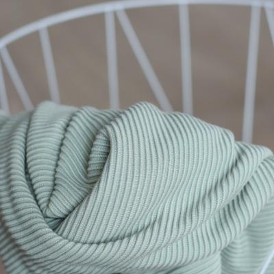 REMNANT 55x140 // Self-stripe Ottoman Knit - Soft Mint