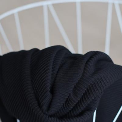 AFKLIP 30x150 // Self-stripe Ottoman Knit - Black