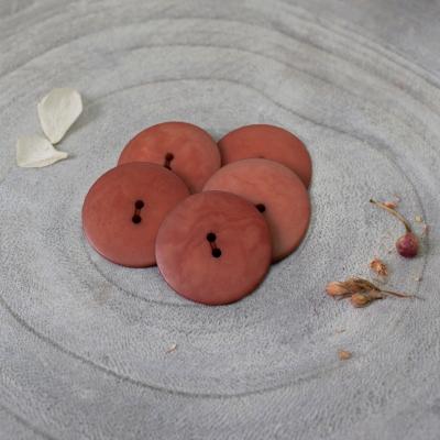 Palm Buttons, 25 mm - Chestnut