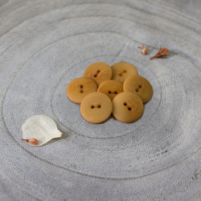 Palm Buttons, 15 mm - Ochre