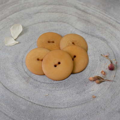 Palm Buttons, 25 mm - Ochre