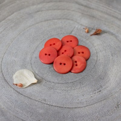 Palm Buttons, 15 mm - Tangerine
