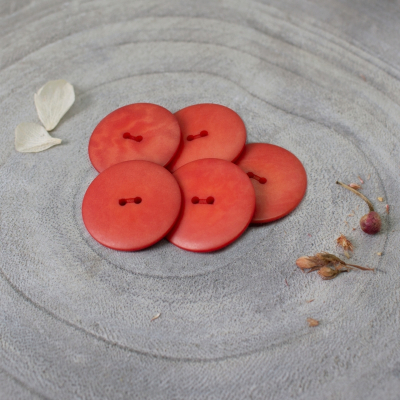 Palm Buttons, 25 mm - Tangerine