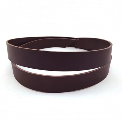 Leather strap (1,4-1,6 mm), brown 25 mm