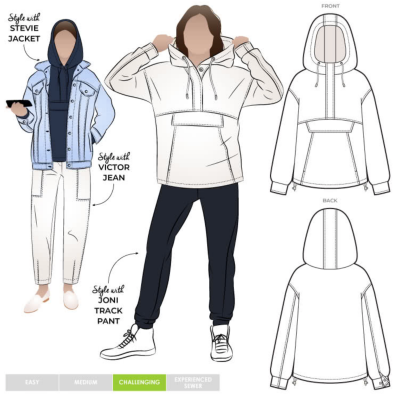 Kennedy Hooded Top (size 18-30)