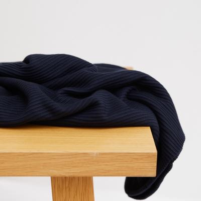 Self-stripe Ottoman Knit - Dark Navy