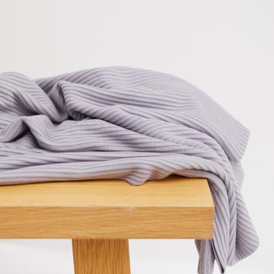 Self-stripe Ottoman Knit - Purple Haze