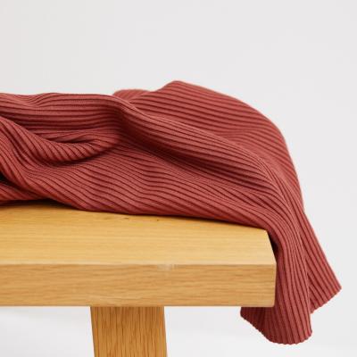 Self-stripe Ottoman Knit - Cider