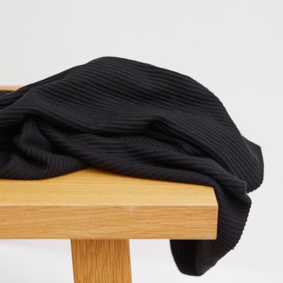 Self-stripe Ottoman Knit - Black