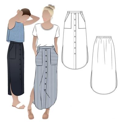 Indigo Maxi Skirt (4-16)