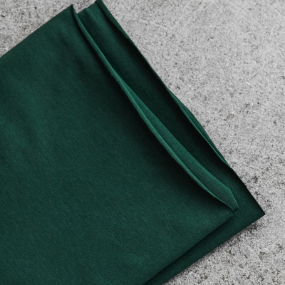Organic Single Stretch Jersey - Bottle Green
