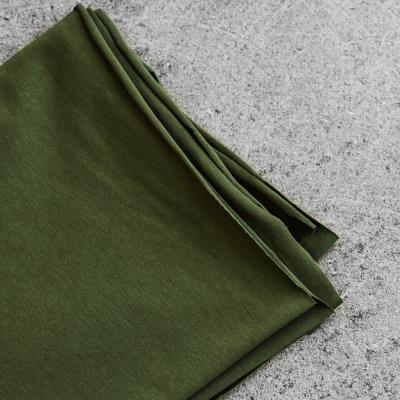 Organic Single Stretch Jersey - Green Khaki