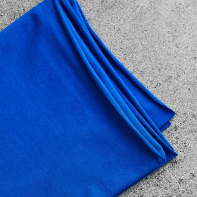 Organic Single Stretch Jersey - Intense Blue