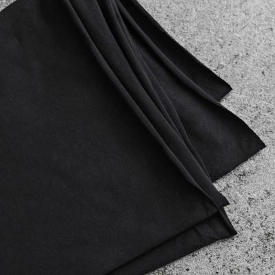 Organic Single Stretch Jersey - Black
