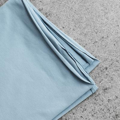Organic Single Stretch Jersey - Faded Blue