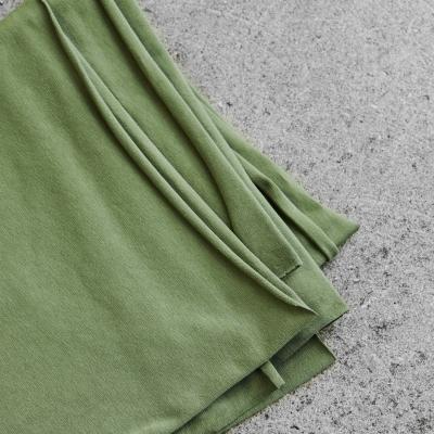 Organic Single Stretch Jersey - Olive Green