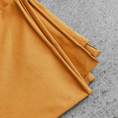 Organic Single Stretch Jersey - Dry Mustard