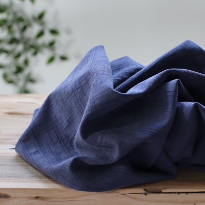 REMNANT 20x110 // Stretchy Grunge Jacquard - Blueberry