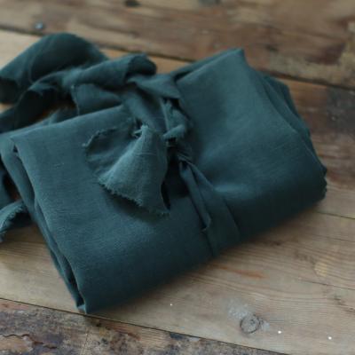 AFKLIP 35x160 // Tencel/Linen Slub - Deep Green