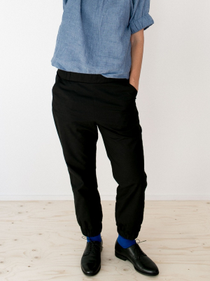 Almost long trousers