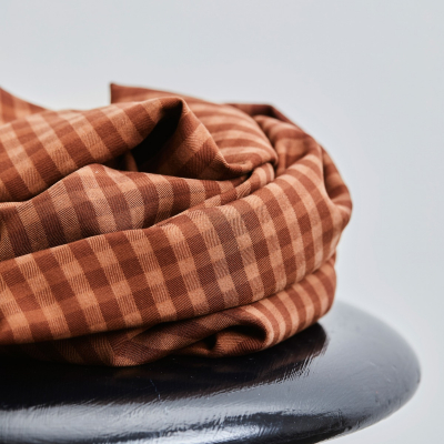 REMNANT 50x150 // Two-tone Check - Pecan