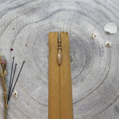 Invisible zipper, 60 cm - Mustard